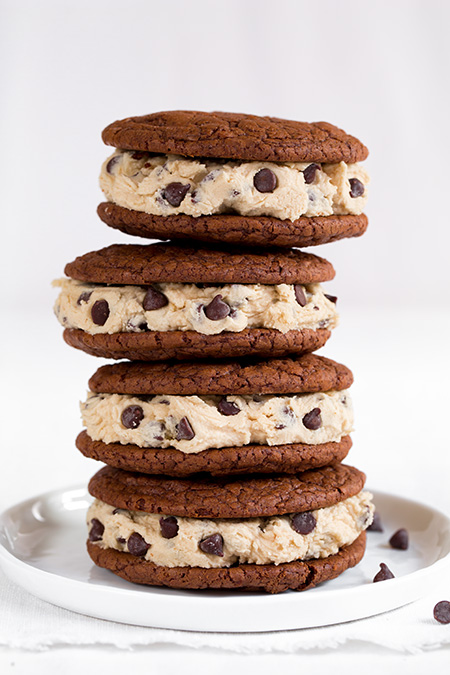 Galletas de brownie con trocitos de chocolate - Brownie cookies